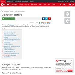 Ordinateur - Histoire