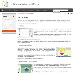 Utiliser un TBI avec un ordinateur Mac