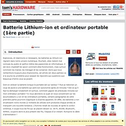 JAVA & GED - Batterie Lithium-ion et ordinateur portable (1ère partie) : Introduction