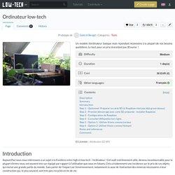 Ordinateur low-tech - Low-Tech Lab