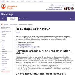 Recyclage ordinateur : tout sur le recyclage des ordinateurs