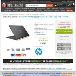 HP Spectre Pro 13 G1 (X2F01EA) - i5 - 8 Go - SSD - Achat Ordinateur portable sur Materiel.net