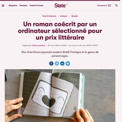 Un roman coécrit par un ordinateur sélectionné pour un prix littéraire