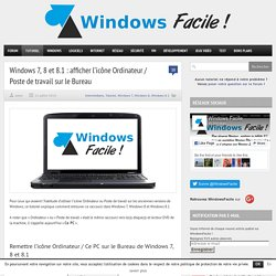 Windows 8 tutoriels pearltrees - Afficher ordinateur sur bureau windows 8 ...