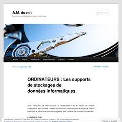 ORDINATEURS : Les supports de stockages de données informatiques