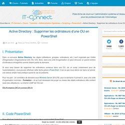 Active Directory : Supprimer les ordinateurs d'une OU en PowerShell