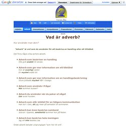 Ordklasser Adverb