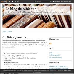 Ordlista = glossaire - Le blog de hibiscus