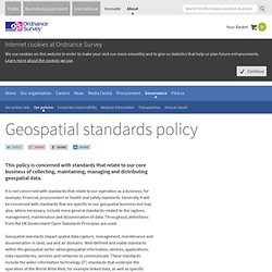 Ordnance Survey geospatial standards policy