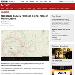 Ordnance Survey releases digital map of Mars surface