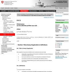 CONFEDERATION SUISSE 01/07/08 Valeurs indicatives, seuils d'investigation et valeurs d'assainissement pour les métaux lourds et