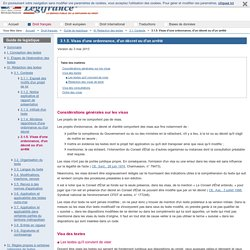 3.1.5. Visas d'une ordonnance, d'un décret ou d'un arrêté / 3.1. Contexte / III. Rédaction des textes / Guide de legistique / Droit français / Accueil