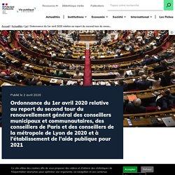 Ordonnance Covid-19 report du second tour élections municipales 2020