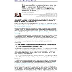 Imprimer: Ordonnances Macron : ce qui change pour les CDD et les contrats de travail de mission temporaire. Par Frédéric Chhum et Camille Bonhoure, Avocats.