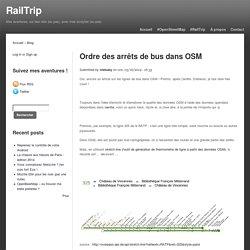 Ordre des arrêts de bus dans OSM