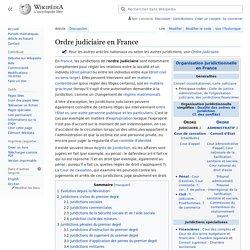 Ordre judiciaire en France