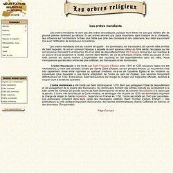 Ordres monastiques - Ordres mendiants