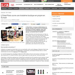 L'Oréal Paris ouvre une troisième boutique
