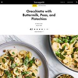Orecchiette with Buttermilk, Peas, and Pistachios Recipe