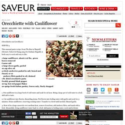 Orecchiette with Cauliflower Recipe