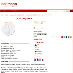 Cod Oreganata Recipe from CDKitchen
