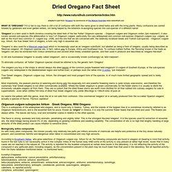 oreganum facts