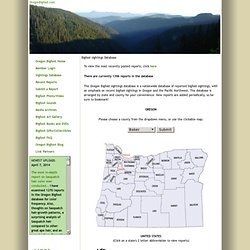 Oregon Bigfoot reports sasquatch sightings, photos, pictures, sound files, recordings