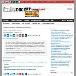 """Oregon Launches Open Data Web Site"" « INFOdocket"