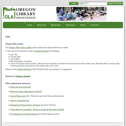Oregon Library Association | Jobs