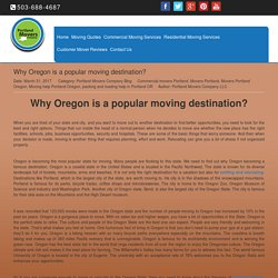 Why Oregon is a popular moving destination?