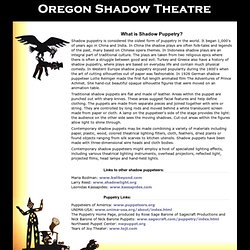 Oregon Shadow Theatre: What is Shadow Puppetry?