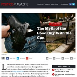Oregon Shooting: The Myth of the Good Guy With the Gun
