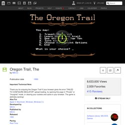 Oregon Trail, The : MECC : Free Streaming