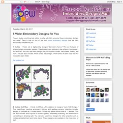 5 Violet Embroidery Designs for You