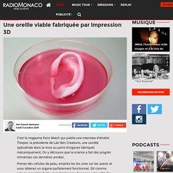 Une oreille viable fabriquée par impression 3D