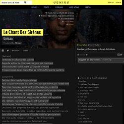 Orelsan – Le Chant Des Sirènes Lyrics