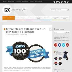 Oreo fête ses 100 ans avec un clin d'oeil à l'Histoire