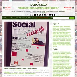 #Oresund #Malmo University #Sweden: Lecturing. 11th & 12th February 2013. - Dr. Igor Calzada