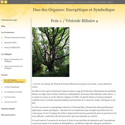 Energétique et Symbolique des Organes