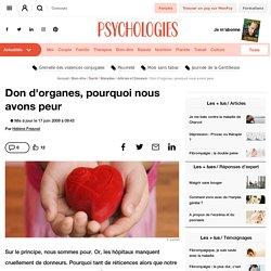 Don d'organes, pourquoi nous avons peur
