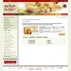 5 oz. Organic Maple Walnut Baklava - Desserts