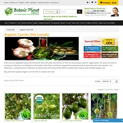 Buy Organic Carrier Oils Online in Canada and USA
