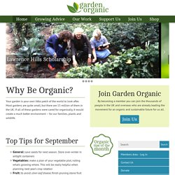 Garden Organic - celebrating 50 years of organic growing - organic gardening, farming and food