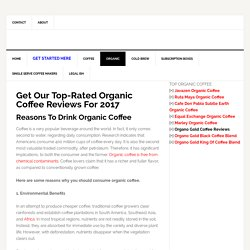 Best Organic Coffee Brands Review 2017