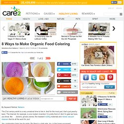 8 Ways to Make Organic Food Coloring