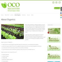Organic Council of Ontario » About Organics
