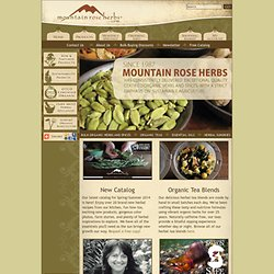 Bulk organic herbs, spices & essential oils from Mountain Rose Herbs