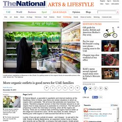 More organic outlets is good news for UAE families