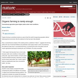 Organic farming is rarely enough