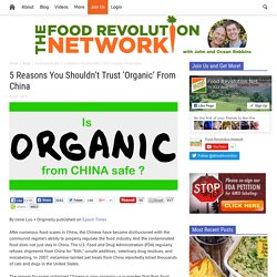 Is Organic Food from China Safe?